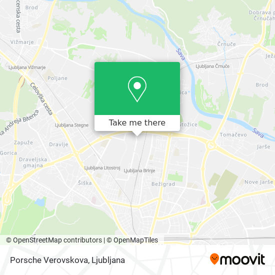 Porsche Verovskova map