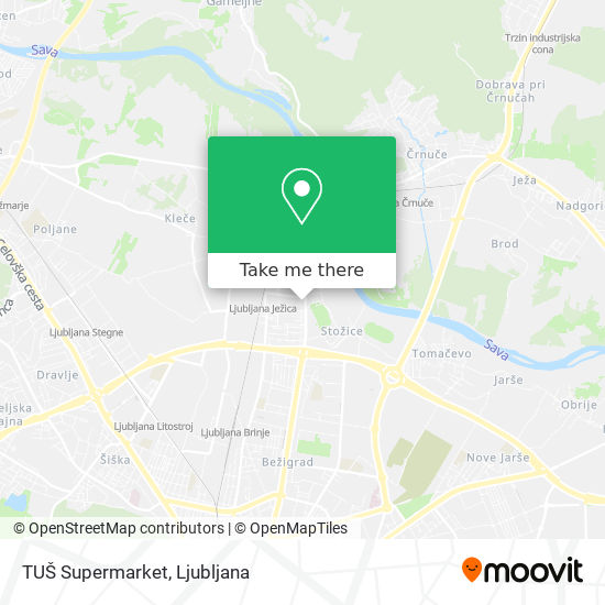 TUŠ Supermarket map
