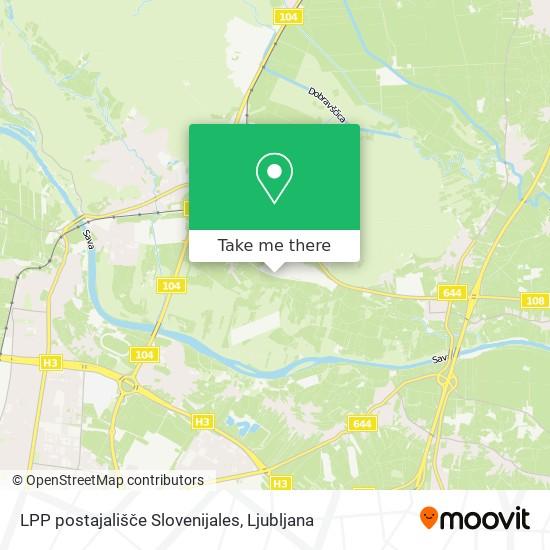 LPP postajališče Slovenijales map