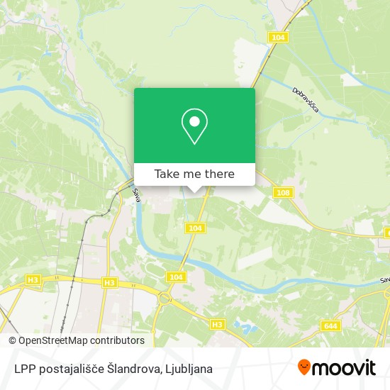 LPP postajališče Šlandrova map
