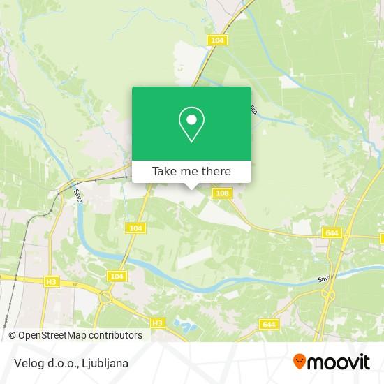 Velog d.o.o. map