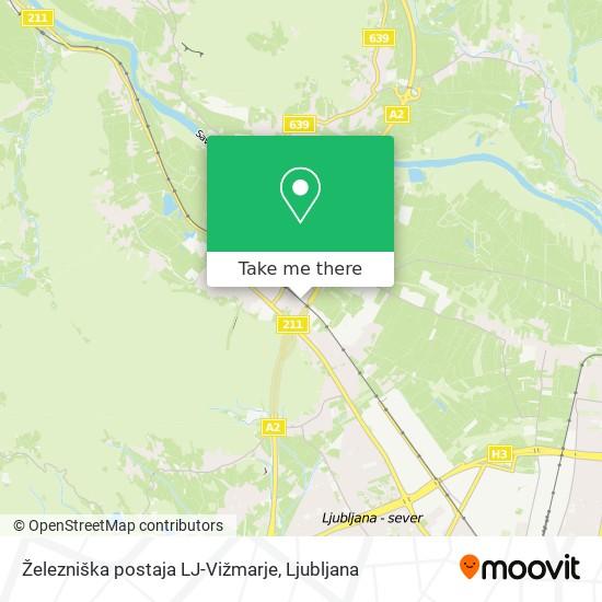 Železniška postaja LJ-Vižmarje map