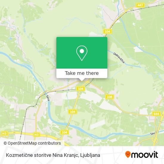 Kozmetične storitve Nina Kranjc map