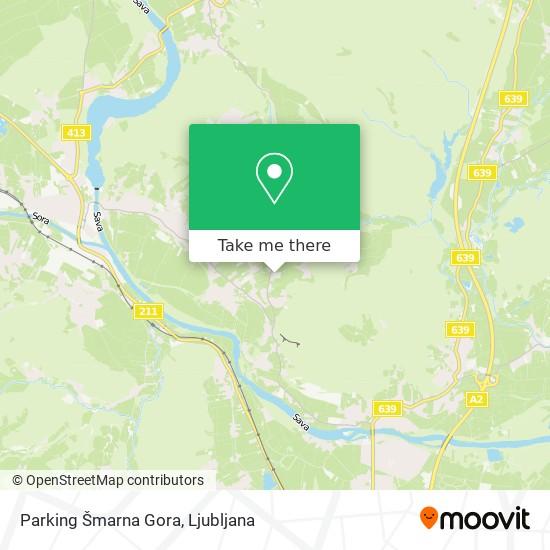 Parking Šmarna Gora map