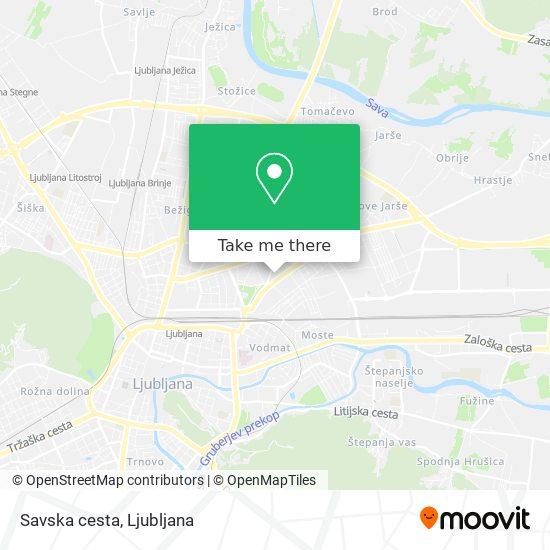 Savska cesta map
