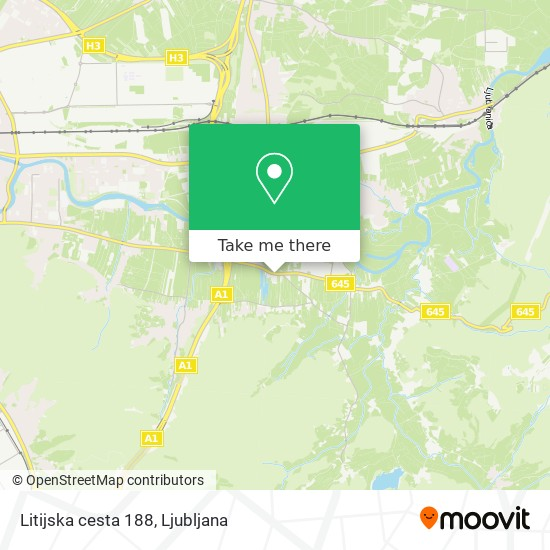 Litijska cesta 188 map