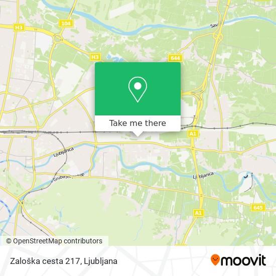 Zaloška cesta 217 map