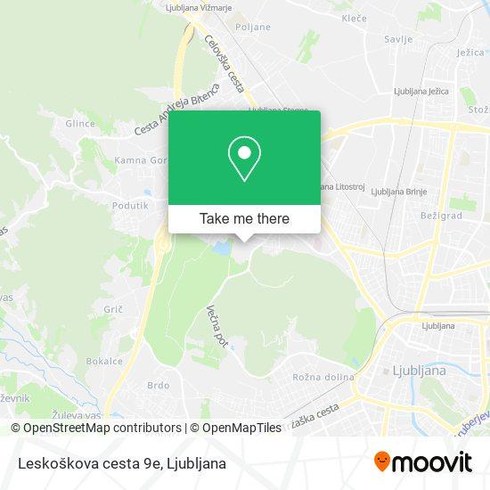 Leskoškova cesta 9e map