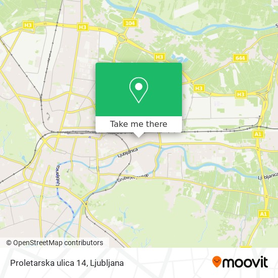 Proletarska ulica 14 map