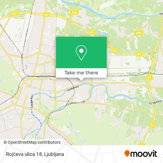 Rojčeva ulica 18 map