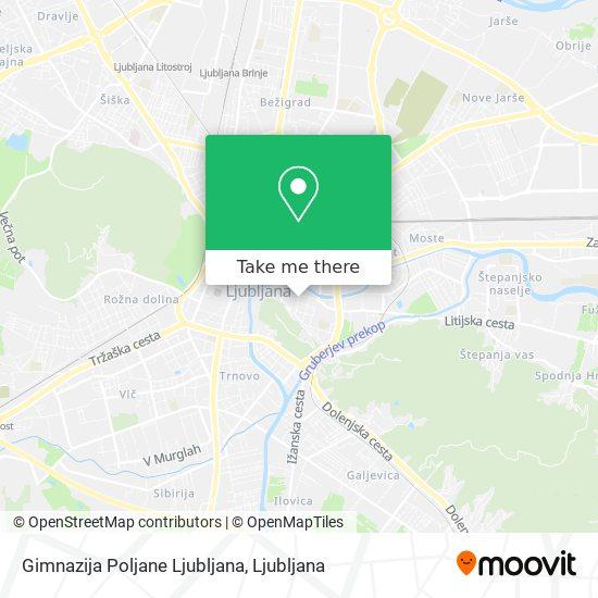 Gimnazija Poljane Ljubljana map