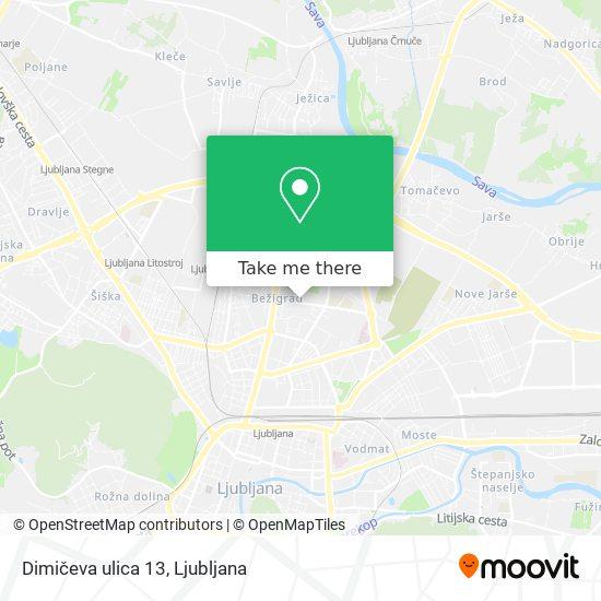 Dimičeva ulica 13 map