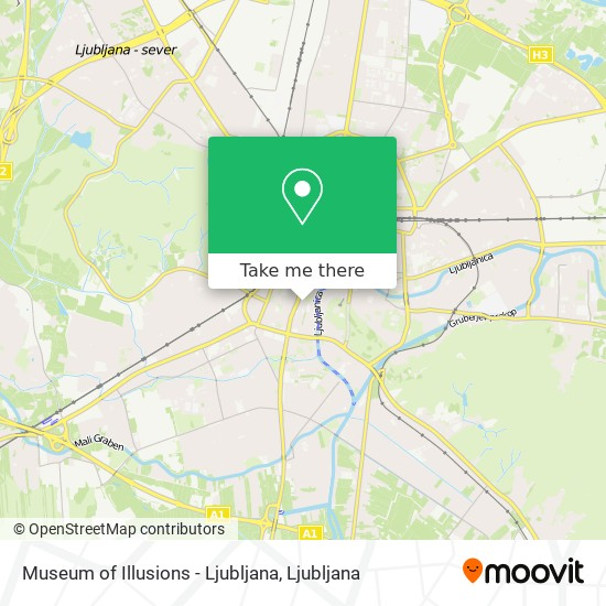 Museum of Illusions - Ljubljana map