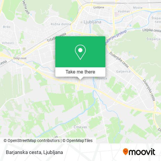 Barjanska cesta map