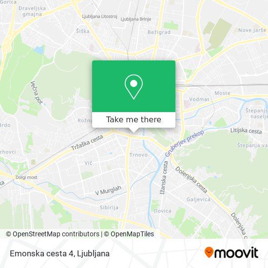 Emonska cesta 4 map