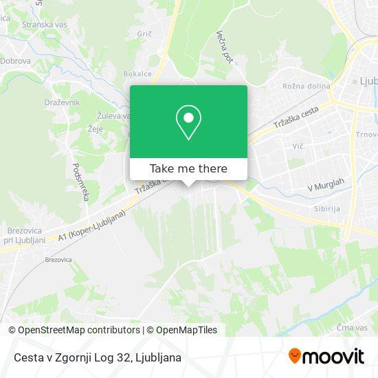 Cesta v Zgornji Log 32 map