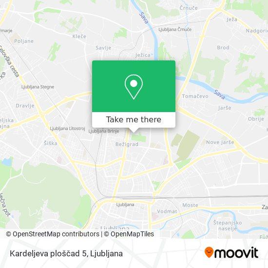 Kardeljeva ploščad 5 map