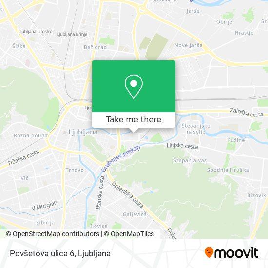 Povšetova ulica 6 map