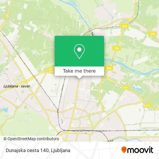 Dunajska cesta 140 map