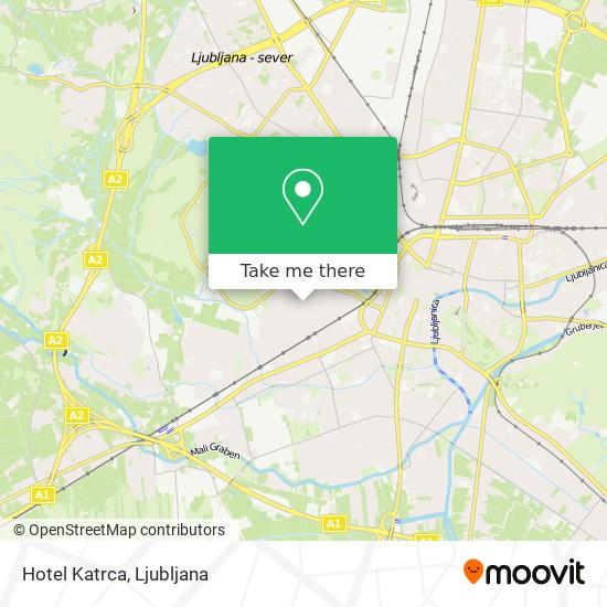 Hotel Katrca map
