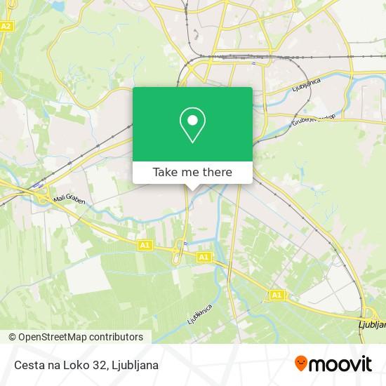 Cesta na Loko 32 map