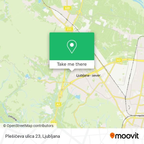 Plešičeva ulica 23 map