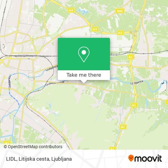 LIDL, Litijska cesta map