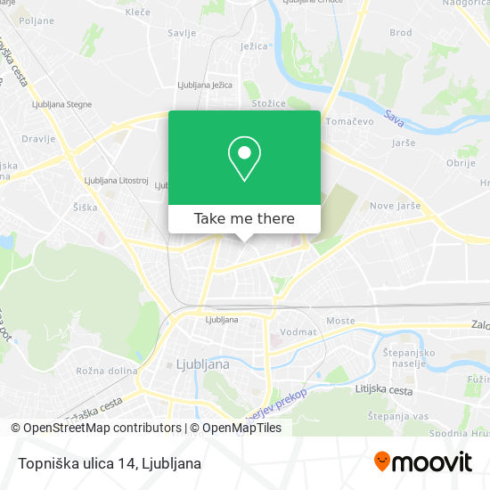 Topniška ulica 14 map
