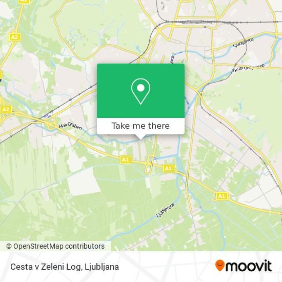 Cesta v Zeleni Log map