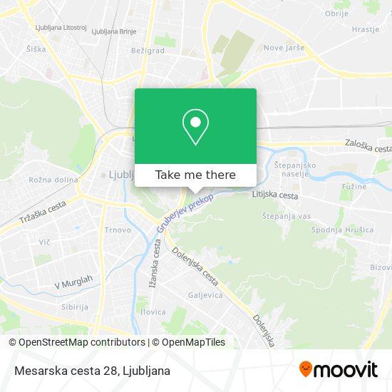 Mesarska cesta 28 map