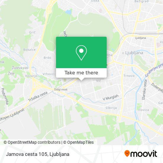 Jamova cesta 105 map