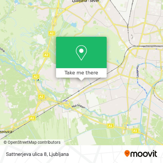 Sattnerjeva ulica 8 map