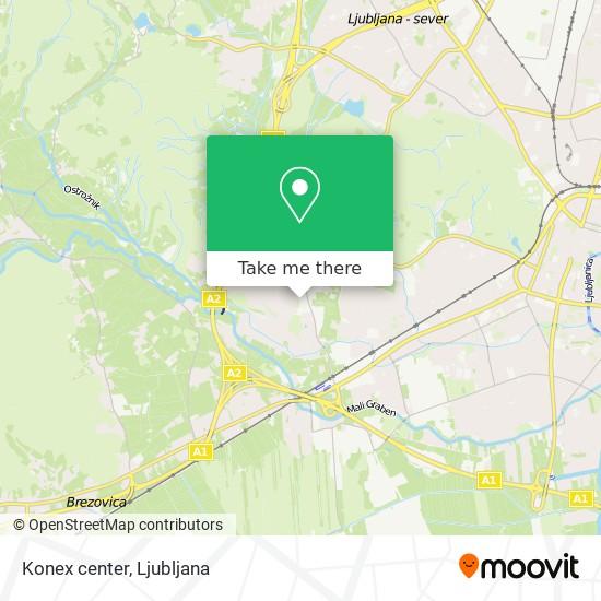 Konex center map