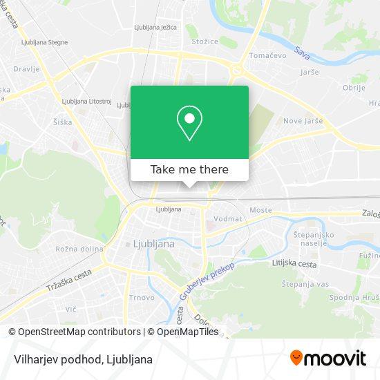Vilharjev podhod map