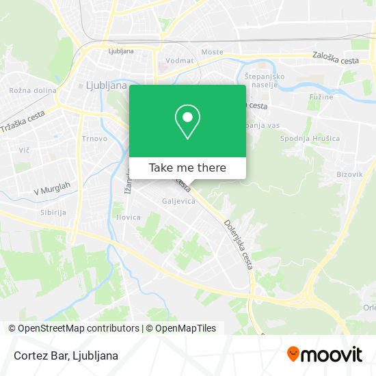 Cortez Bar map