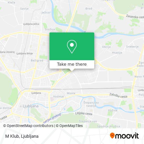 M Klub map