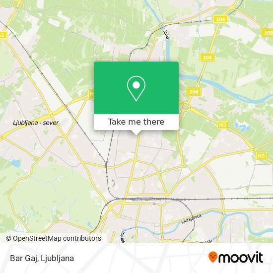 Bar Gaj map
