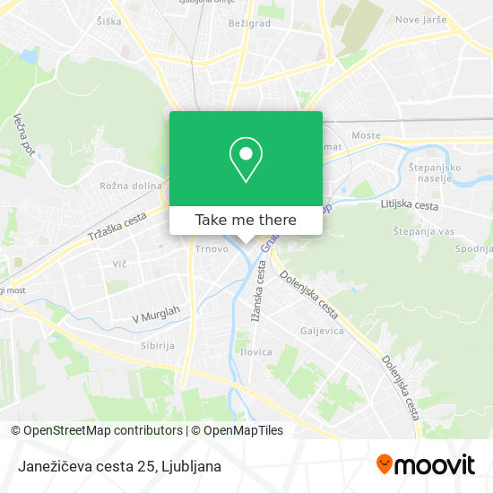 Janežičeva cesta 25 map