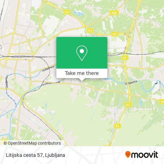 Litijska cesta 57 map