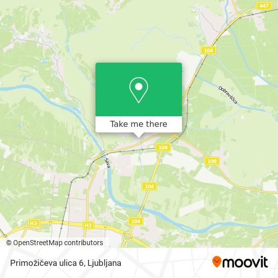 Primožičeva ulica 6 map