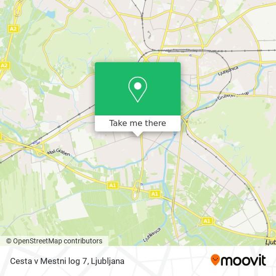 Cesta v Mestni log 7 map