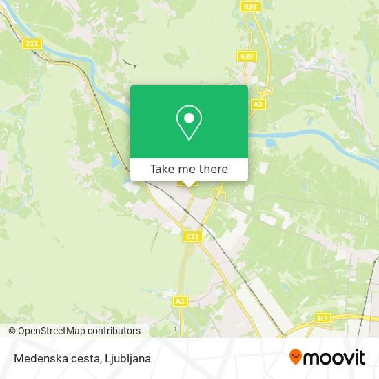 Medenska cesta map