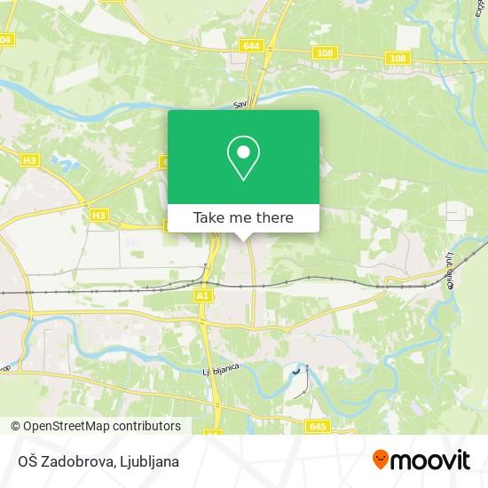 OŠ Zadobrova map