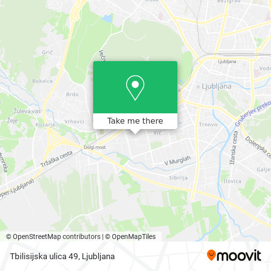 Tbilisijska ulica 49 map