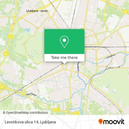 Levstikova ulica 14 map