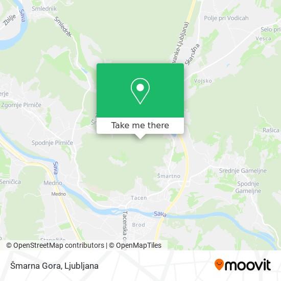 Šmarna Gora map
