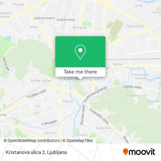 Kristanova ulica 2 map