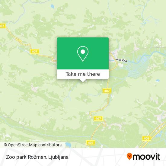 Zoo park Rožman map