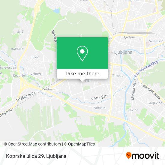 Koprska ulica 29 map