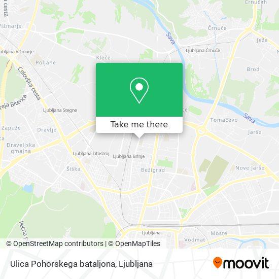 Ulica Pohorskega bataljona map